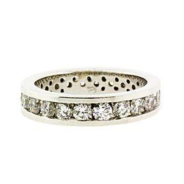 14K White Gold Diamond Ring Size 5.5