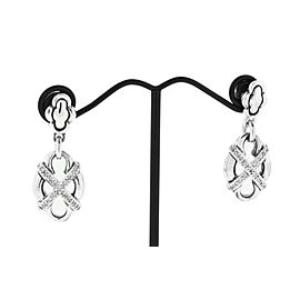 Scott Kay Sterling Silver Diamond Earrings