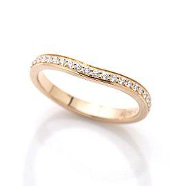 Cartier Ballerine 18K Rose Gold & Diamond Ring Size 3.25