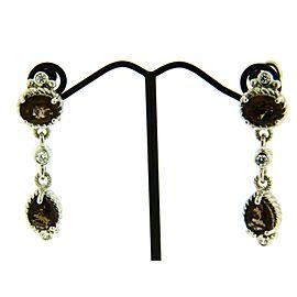 Judith Ripka Sterling Silver Topaz Womens Earrings