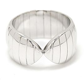 Chaumet 18K White Gold Plumes Ring