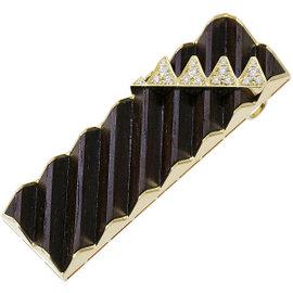 Mikimoto 18K Yellow Gold & Wood 0.39ctw. Diamond Pendant