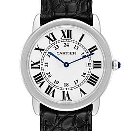 Cartier Ronde Solo Large Steel Unisex Watch W6700255 Box Papers