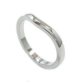 Cartier 950 Platinum Ballerine Curve Ring Size 3.25