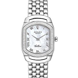 Rolex Cellini Cellissima White Gold Diamond Ladies Watch 6691 Box Card