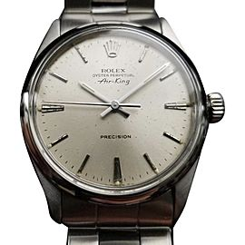 Rolex Air King Oyster Perpetual 5500 Vintage 34mm Men Watch