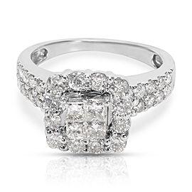 Diamond Engagement Ring in 14K White Gold (1.25 CTW)