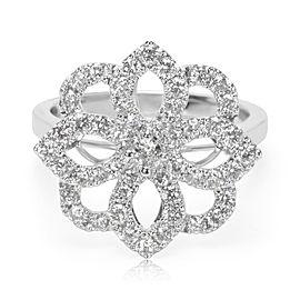 Diamond Flower Ring in 18K White Gold (1.00 CTW)