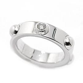 Louis Vuitton 18K White Gold with Diamond Petite Berg Crew Ring Size 4