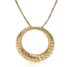 John Hardy 18K Yellow Gold Round Pendant Necklace