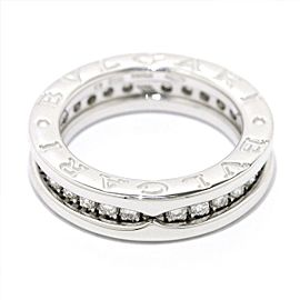 Bulgari B-Zero1 18K White Gold with Diamond 1 Band Ring Size 3.5