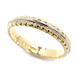 Christian Dior 18K Yellow Gold & 950 Platinum Ring Size 8.5