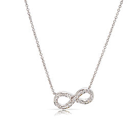 Tiffany & Co. Platinum with 0.15ctw Diamond Infinity Necklace