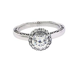 Verragio 18K White Gold Diamond Engagement Ring Size 6