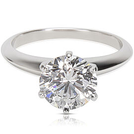 Tiffany & Co. 950 Platinum with 2.02ctw Diamond Solitaire Engagement Ring Size 6