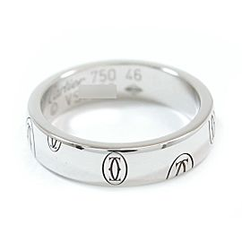 Cartier Happy Birthday Ring 18K White Gold Size 3.75