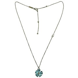 Chimento 18K White Gold Diamond, Topaz Pendant