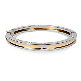 Bulgari 18K Yellow Gold and Stainless Steel Bangle Bracelet