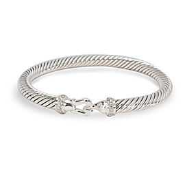 David Yurman Sterling Silver with 0.06ctw Diamond Cable Bracelet