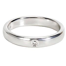 Tiffany & Co. Lucida Platinum with 0.05ct Diamond Ring Size 9.5
