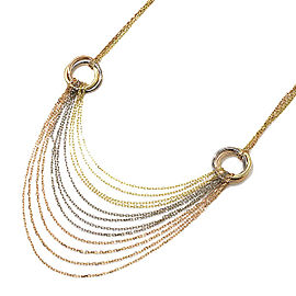 Cartier Trinity Drape Necklace 18K Yellow, White & Rose Gold