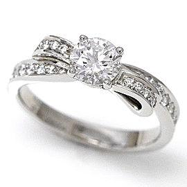 Chanel Ruban Platinum 0.54ctw. Diamond Ring Size 4.5