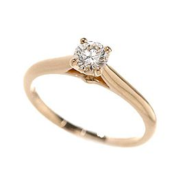 Cartier Solitaire Ring 18K Rose Gold 0.27ct Diamond Size 3.75