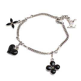 Louis Vuitton Silver Tone Hardware Sweet Monogram Bracelet