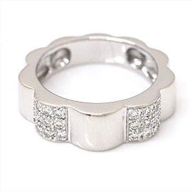 Chanel Profil de Camelia 18K White Gold Diamond Ring Size 4.75