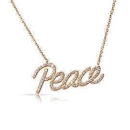 Tiffany & Co. Paloma Picasso Graffiti Peace Pendant Necklace 18K Rose Gold 0.21 ctw Diamonds