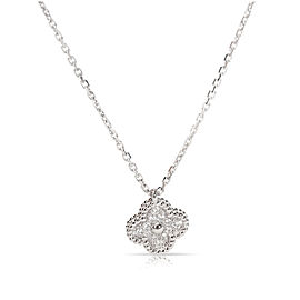 Van Cleef & Arpels 18K White Gold Diamond Sweet Alhambra Necklace