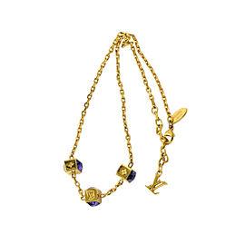 Louis Vuitton Gold Tone Hardware Collier Gamble Chain Necklace