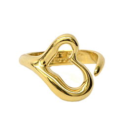 Tiffany & Co. 750 Yellow Gold Heart Band Ring Size 5