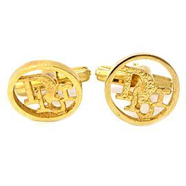 Christian Dior Gold Tone Hardware Cufflinks
