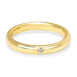 Tiffany & Co. Elsa Peretti 18K Yellow Gold Diamond Ring Size 6