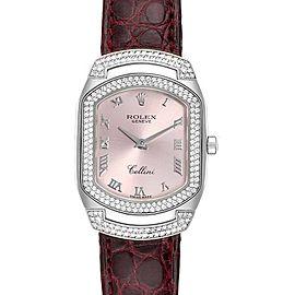Rolex Cellini Cellissima White Gold 222 Diamonds Watch 6693 Box Papers