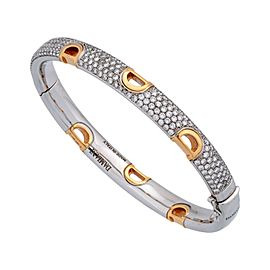 Damiani 8K White Gold Diamond, Opal Bracelet
