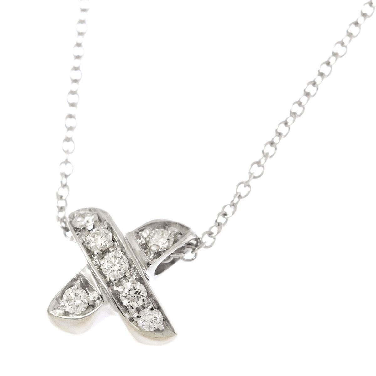 a8c672f0a 18K White Gold Diamond Cross Necklace | Tiffany & Co. | Buy at TrueFacet
