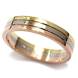 Cartier Trinity Ring 18K Yellow, White & Rose Gold Size 10.25
