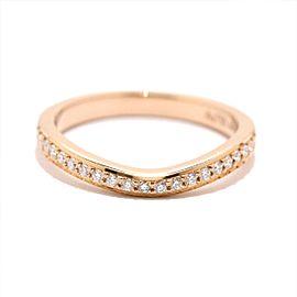 Cartier Ballerine Ring 18K Rose Gold Diamond Size 3
