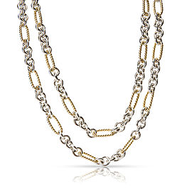 David Yurman Figaro 18K Yellow Gold, Sterling Silver Necklace