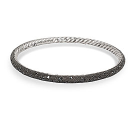 David Yurman Midnight Sterling Silver Diamond Bracelet
