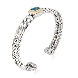 David Yurman Cable 18K Yellow Gold, Sterling Silver Topaz Bracelet