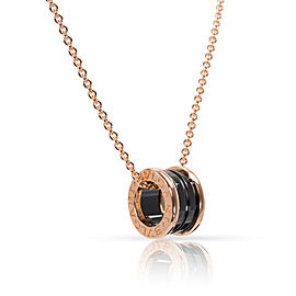 Bulgari B.Zero 1 8K Rose Gold Ceramic Pendant Necklace