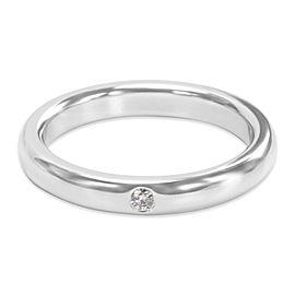 Tiffany & Co. Elsa Peretti Platinum Diamond Ring Size 8