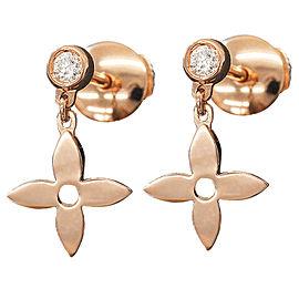 Louis Vuitton 18K Diamond Monogram Idylle Diamond Earrings