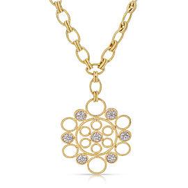 "Buccellati ""Maria"" Diamond Pendant Necklace 18K Yellow Gold 0.16ctw."