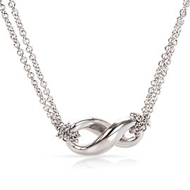 Tiffany & Co. Infinity Sterling Silver Pendant Necklace