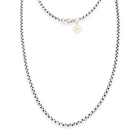 David Yurman Box Chain Sterling Silver Necklace