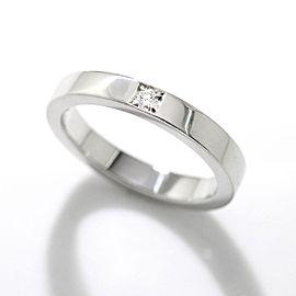 Bulgari 950 Platinum 0.03ct Diamond MarryMe Ring Size 5